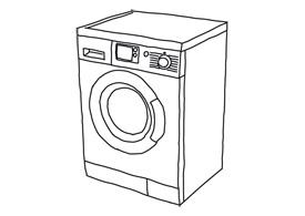 275x195 Art Washing Machine Free Vector Illustration