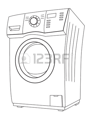 350x450 Cartoon Image Of Washing Machine Royalty Free Cliparts, Vectors