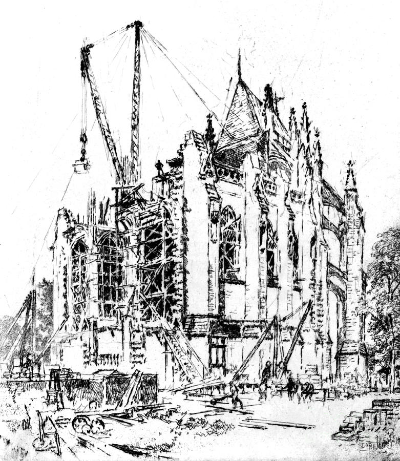 781x900 Washington Cathedral Construction 1923 Photograph By Padre Art