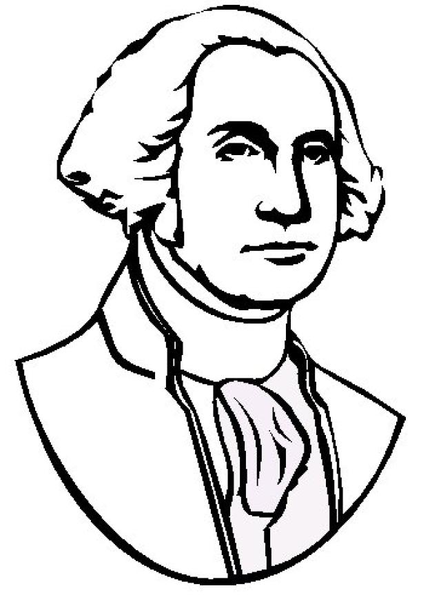 640x863 George Washington Color Page Free Coloring Pages George Washington