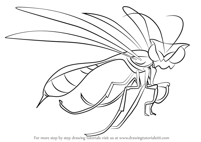 800x567 Learn How To Draw Wasp Leader From The Ant Bully (The Ant Bully
