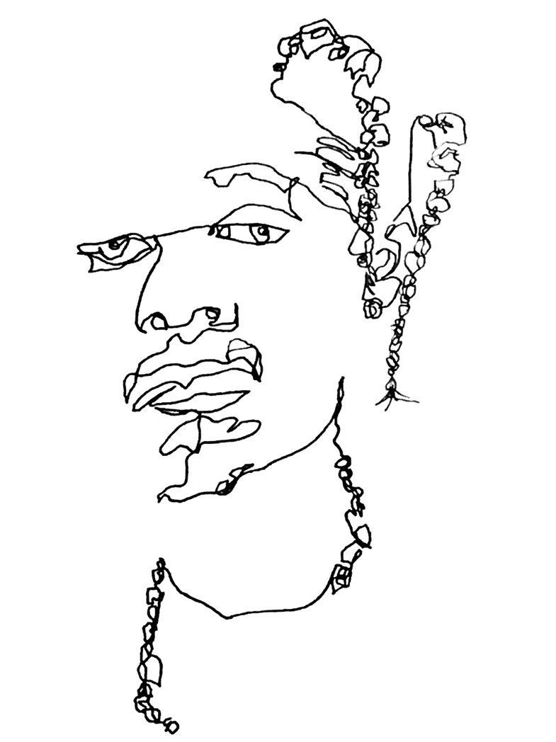 785x1048 A Line Is A Terrible Thing To Waste Blind Contour Drawing, Artsy