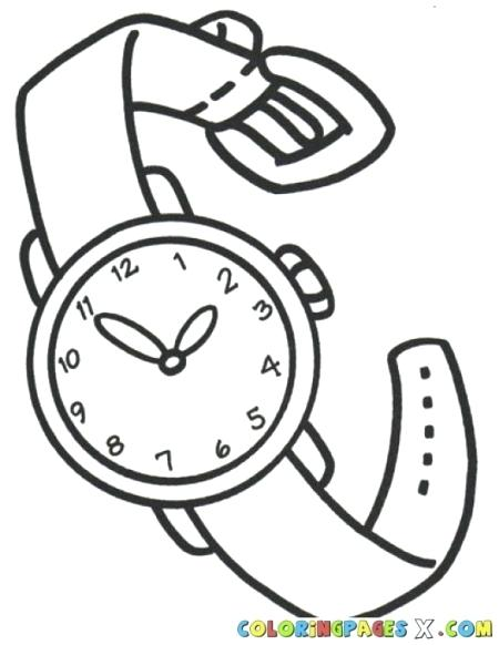 450x582 Watch Coloring Page Pocket Analog Clock Pages Yo