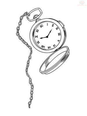 300x400 Image Result For Alice In Wonderland Pocket Watch Drawing Pocket