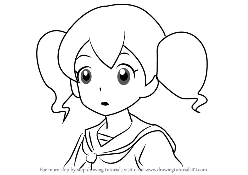 800x567 Learn How To Draw Amy From Yo Kai Watch (Yo Kai Watch) Step By