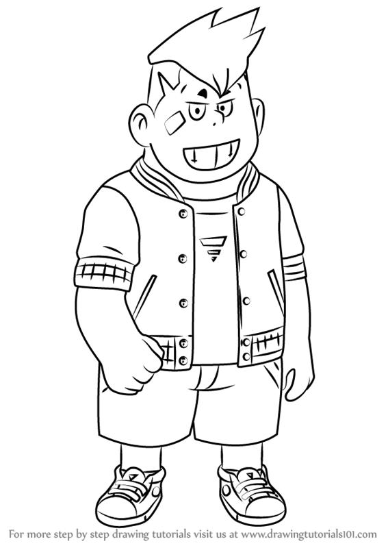 567x800 Learn How To Draw Barnaby Bernstein From Yo Kai Watch (Yo Kai
