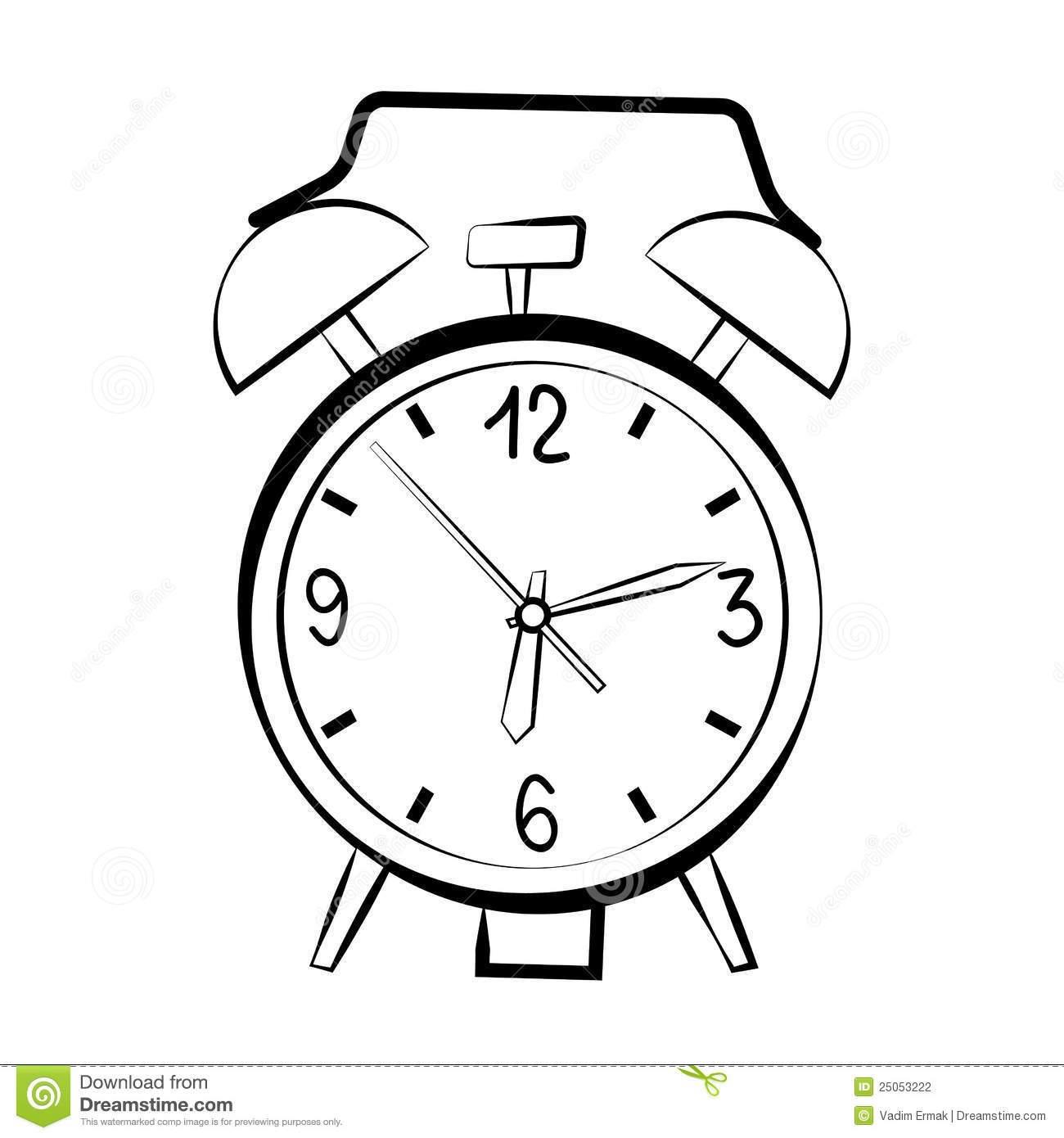 1300x1390 Drawing Of An Alarm Clock Unique Alarm Clock