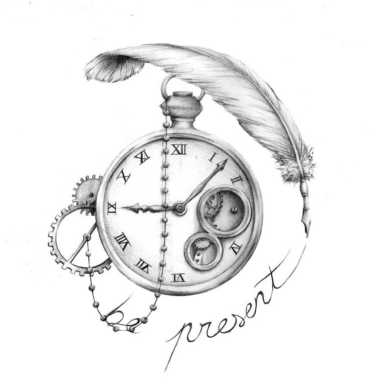 736x770 Drawn Pocket Watch Old Time