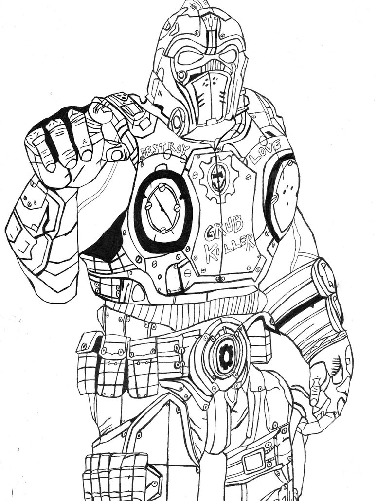 775x1030 Gears Of War Clayton Carmine By The Silver Spartan