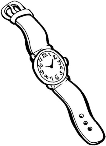 348x480 Hand Watch For Men Coloring Page Free Printable Coloring Pages