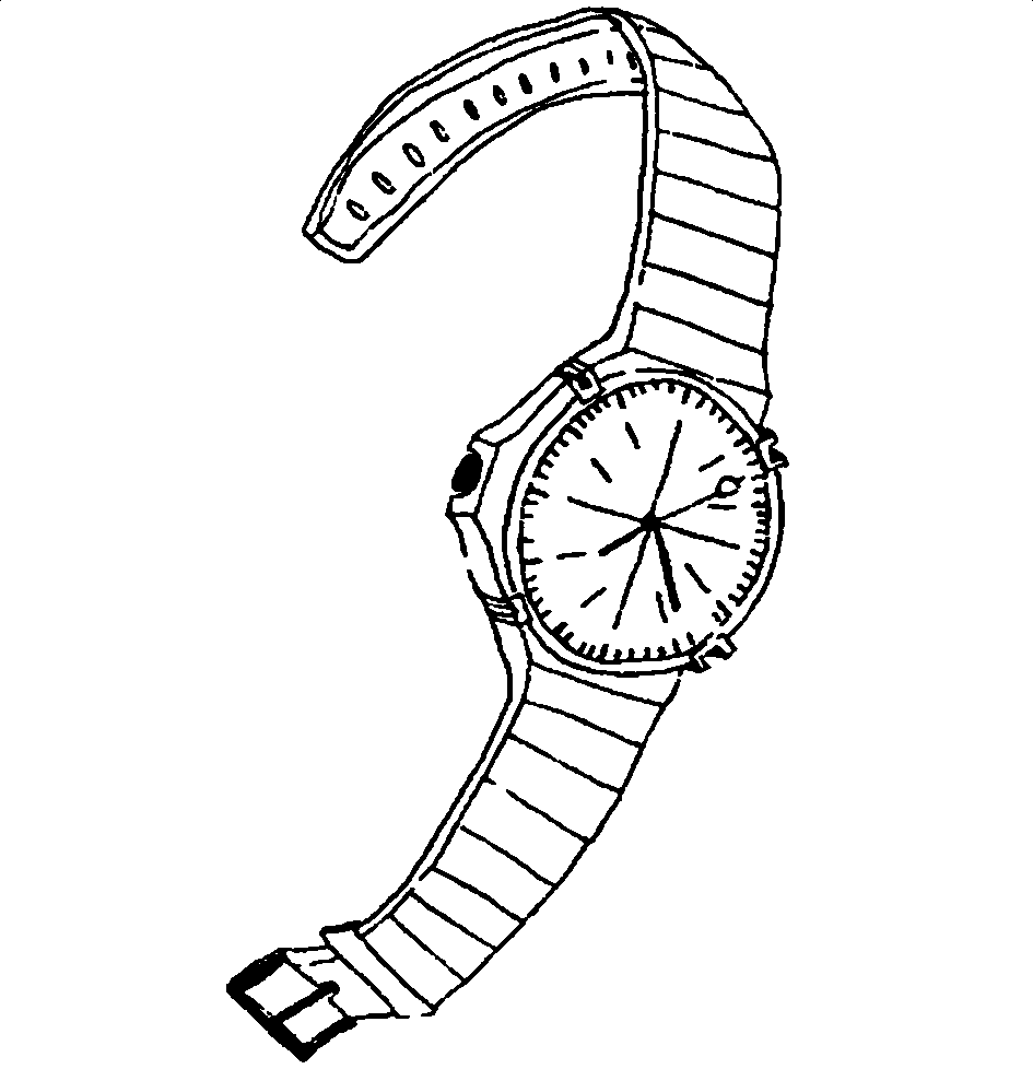 945x978 Line Drawing Wrist Watch Watch Technical Drawing