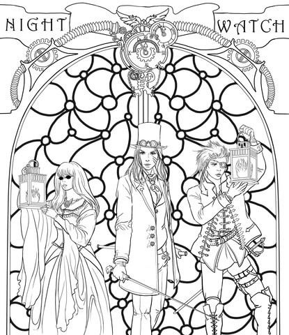 415x480 Steampunk Night Watch Crew Coloring Page Free Printable Coloring