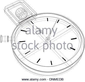 331x320 Stopwatch Wireframe Stock Vector Art Amp Illustration, Vector Image