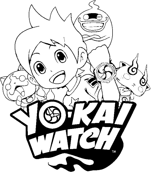 639x719 Yo Kai Watch Coloring Pages Printable In Snazzy Draw Photo