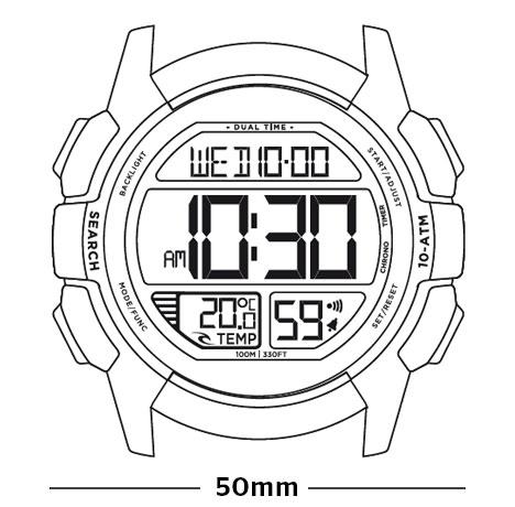 468x460 Drifter Digital Watch Mens Surf Watch Rip Curl