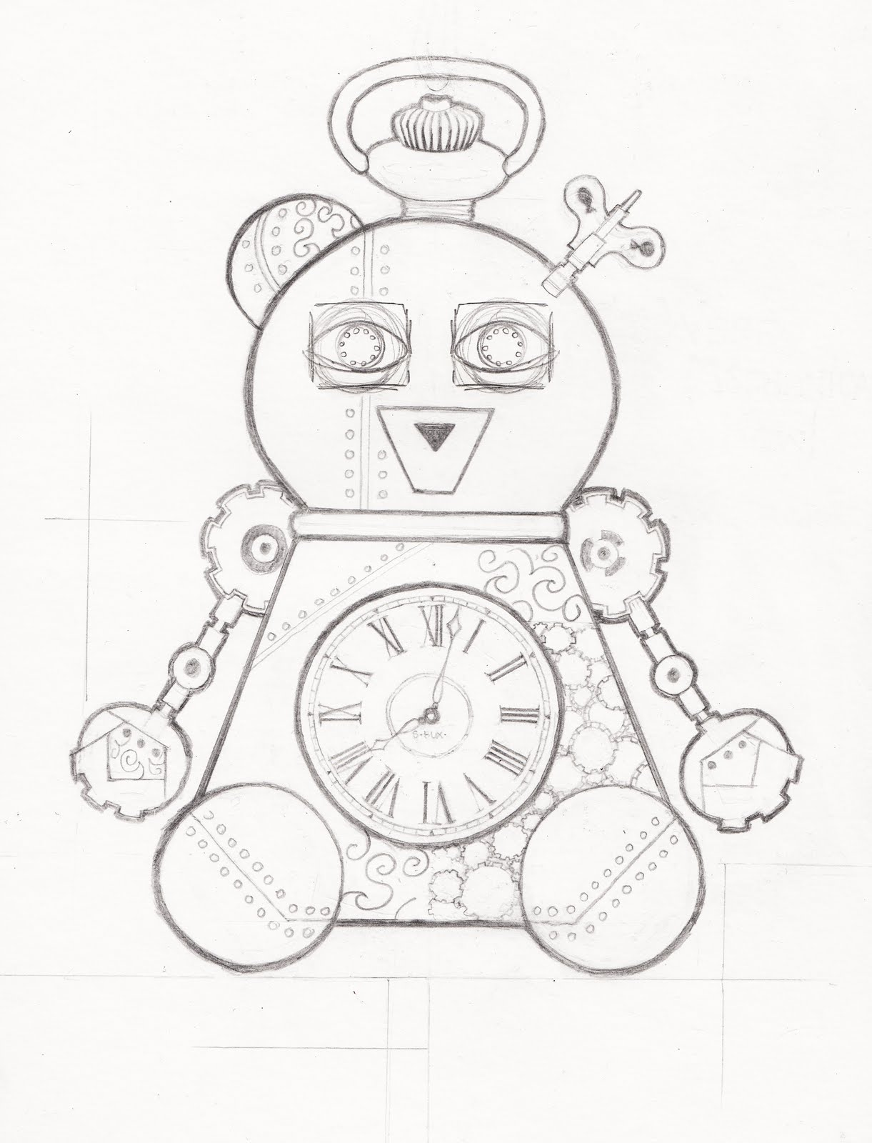 1221x1600 Pocket Watch Drawing Pocket Watch Grizzly ! And Tired Pocket