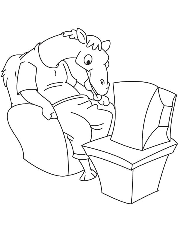 612x792 Camel Watching Tv Coloring Page Download Free Camel Watching Tv