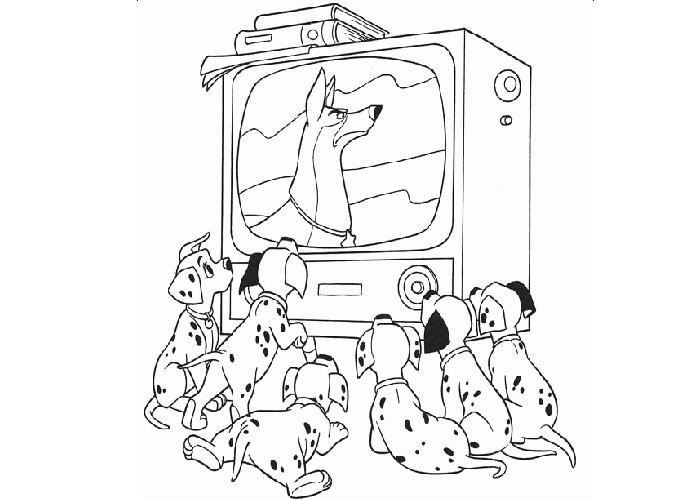 Cartoon Watching Tv Clipart