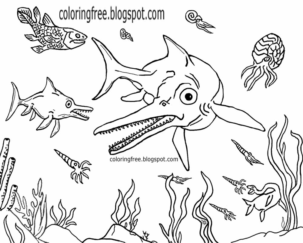 Water Animals Drawing at GetDrawings.com | Free for personal use ...