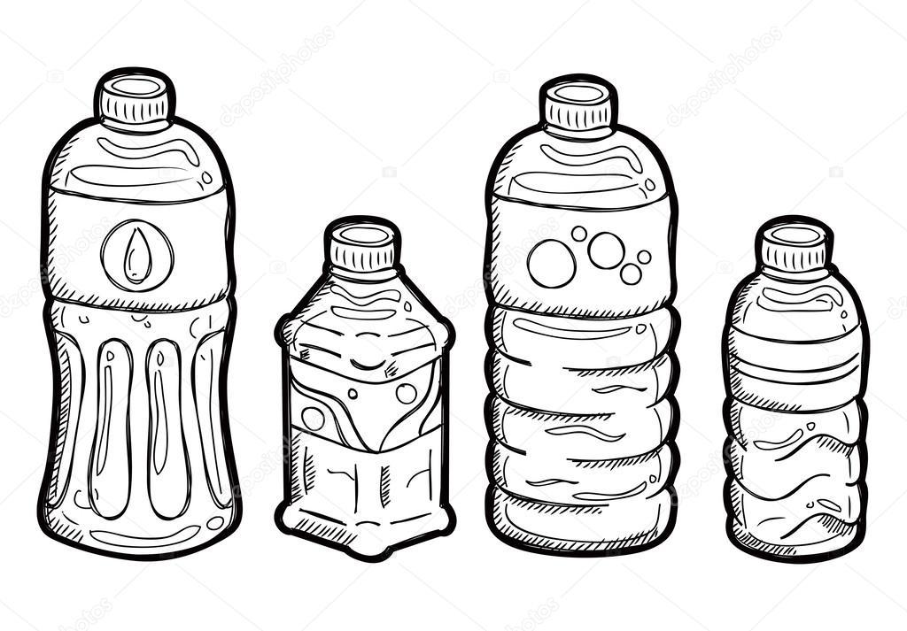 1024x713 Plastic Bottle Doodle Stock Vector Mhatzapa