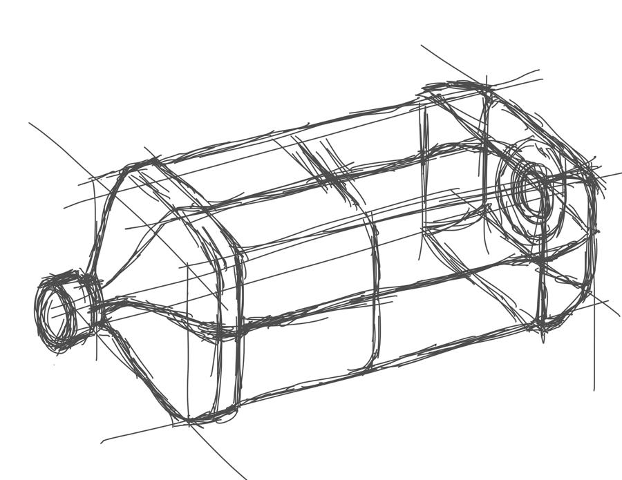 900x695 Tablet Sketch Bottle Feng Design