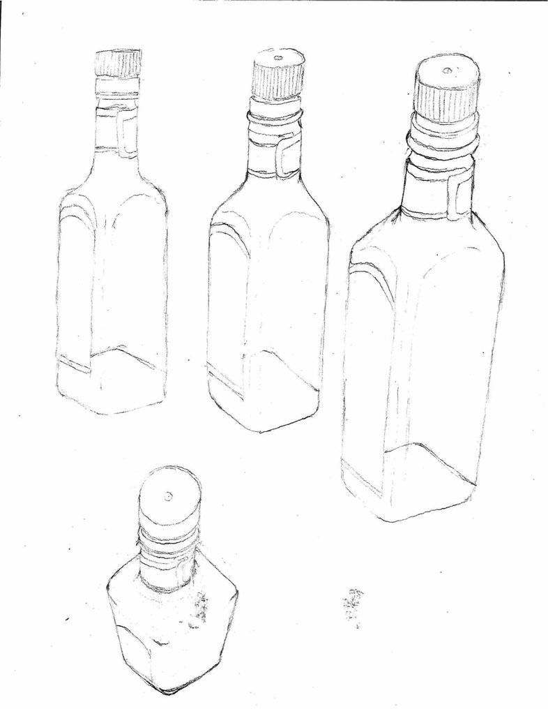 786x1016 Bottle Perspective Drawing By Sketchdaily
