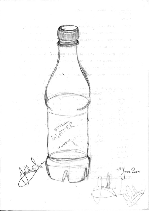 600x849 Water Bottle In 3d By Pinkcarrots