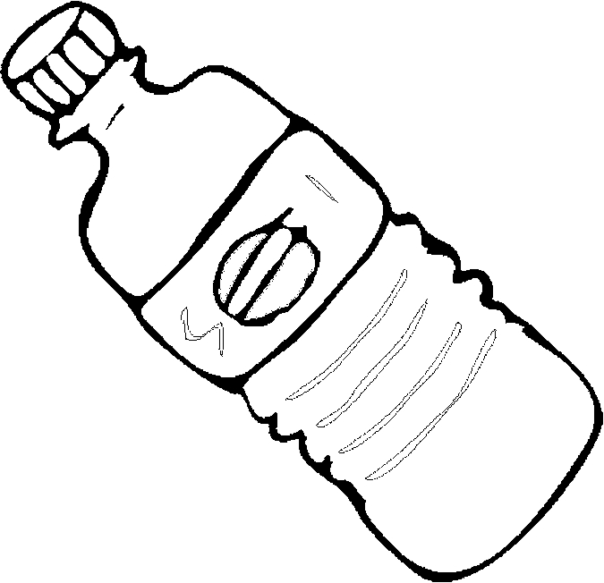 675x652 Water Bottle Coloring Page