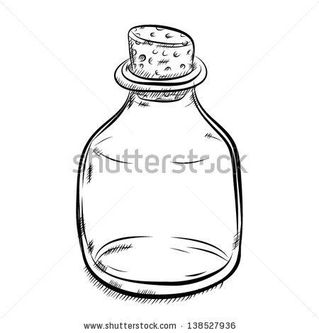 450x470 Drawn Bottle Empty Bottle