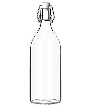 384x450 Favola Designer Freeze Safe Air Tight Flip Cap Clear Glass Water