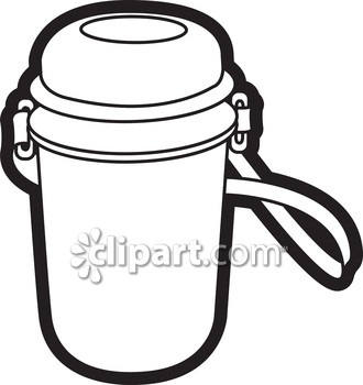 330x350 Water Bottle Clipart Black And White
