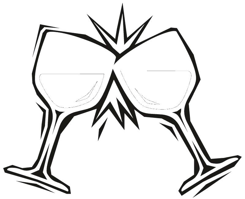800x650 Water Bottle Coloring Page Pair Of Wine Glasses More Coloring