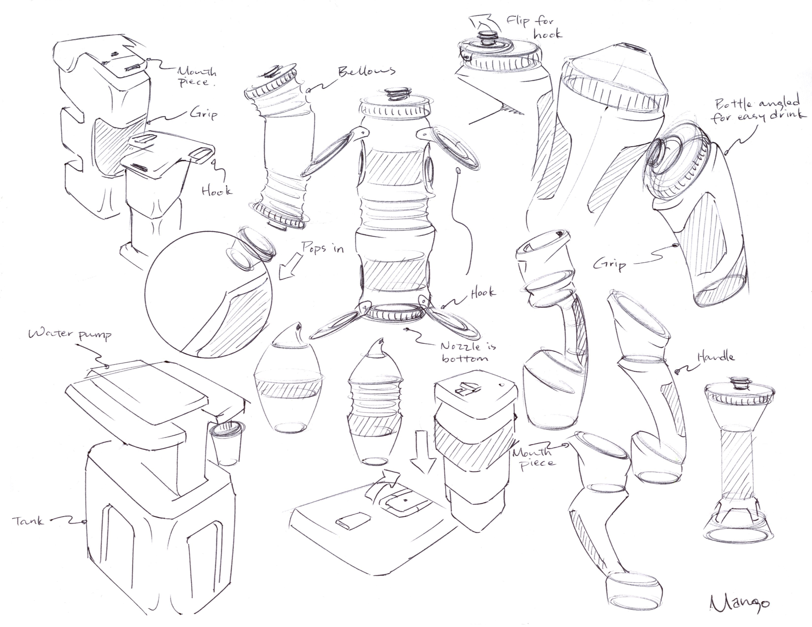 3300x2550 Water Bottle Ideation Sketches By C Maeng