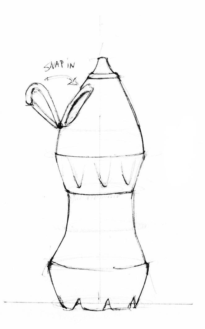 662x1063 Water Bottle Line Drawing