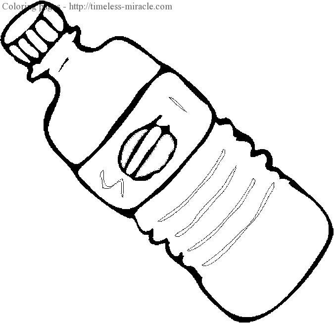 675x652 Water Bottle Coloring Page Coloring Page For Kids
