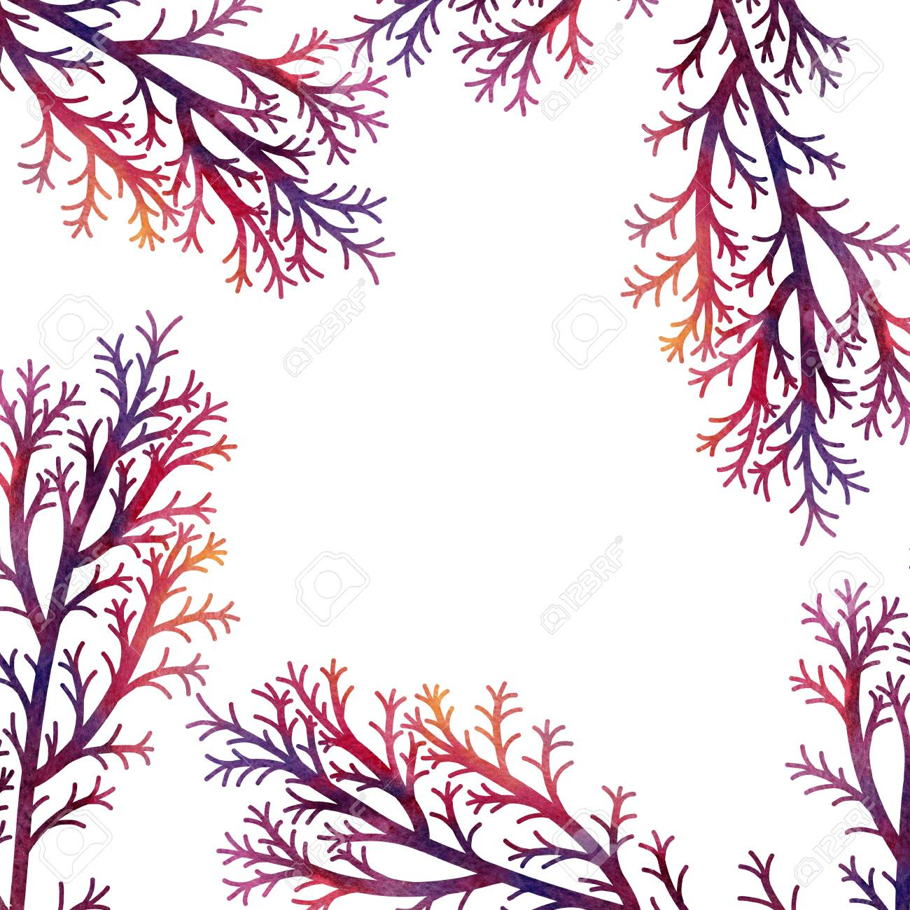 1300x1300 Silhouette Floral Composition With Wild Plants Drawing