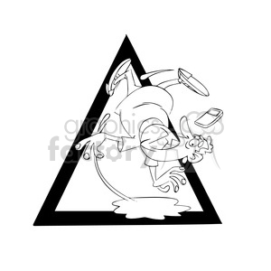 300x300 Royalty Free Man Slipping On Puddle Of Water Drawing 394324 Vector