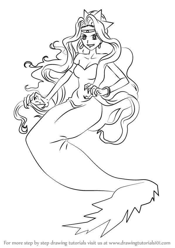 598x844 Learn How To Draw Izuru Water Daemon From Mermaid Melody (Mermaid