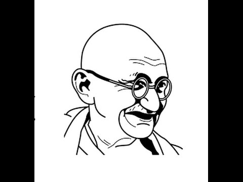 480x360 How To Draw Mahatma Gandhi Face Sketch Step By Step