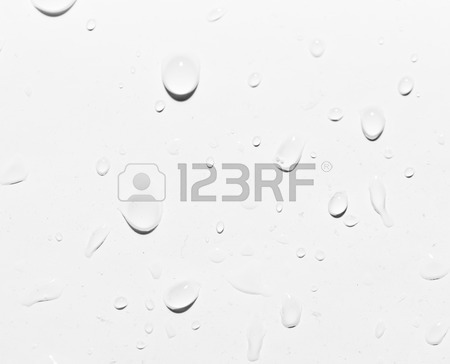 450x364 Water Drops On Grey Background Stock Photo, Picture And Royalty