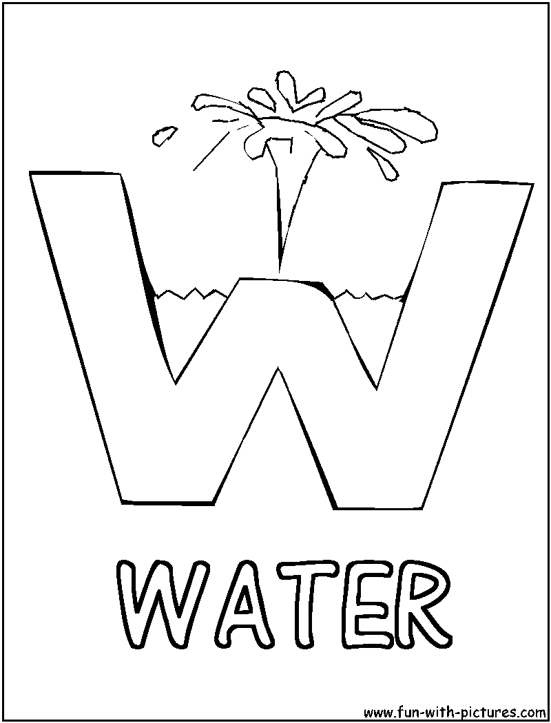 800x1050 Water Drop Coloring Pages