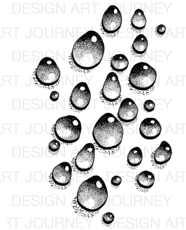 649x800 Art Journey Stamps Waterdrops 1 Drawing Stamps