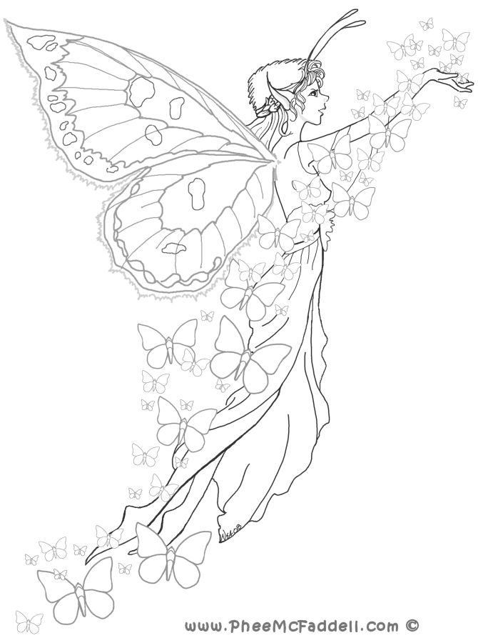 Water fairy drawing at free for personal for Water fairy coloring pages