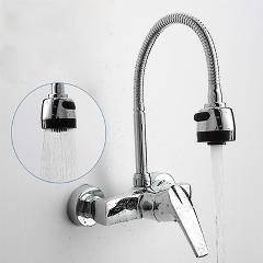 240x240 Wall Mounted Hot And Cold Water Tap, Kitchen Faucet, Universal