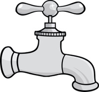 200x186 Cartoon Dripping Faucet Stock Vector