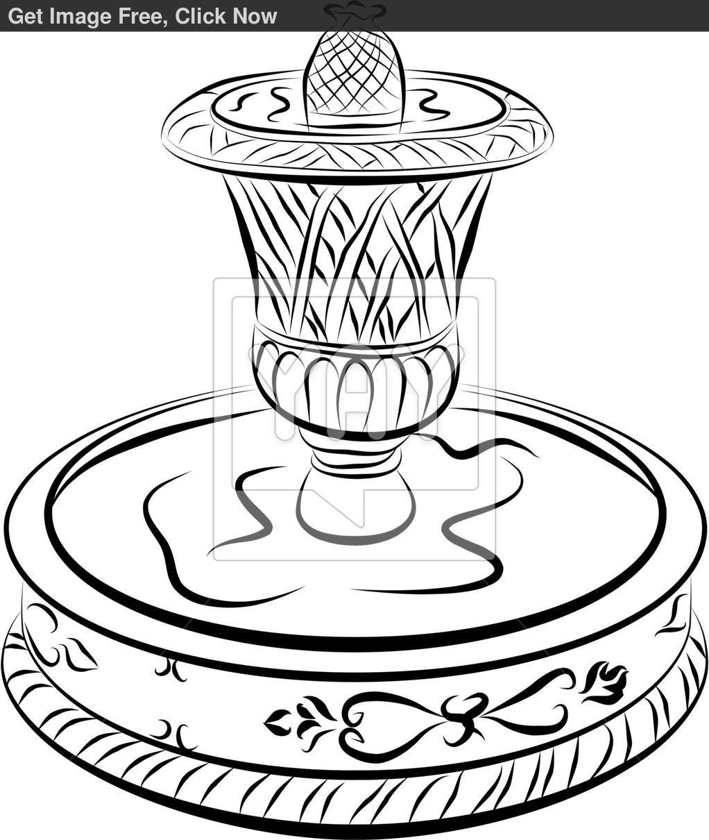 1022x1210 Water Fountain Drawing Related Keywords Suggestions Water Fountain