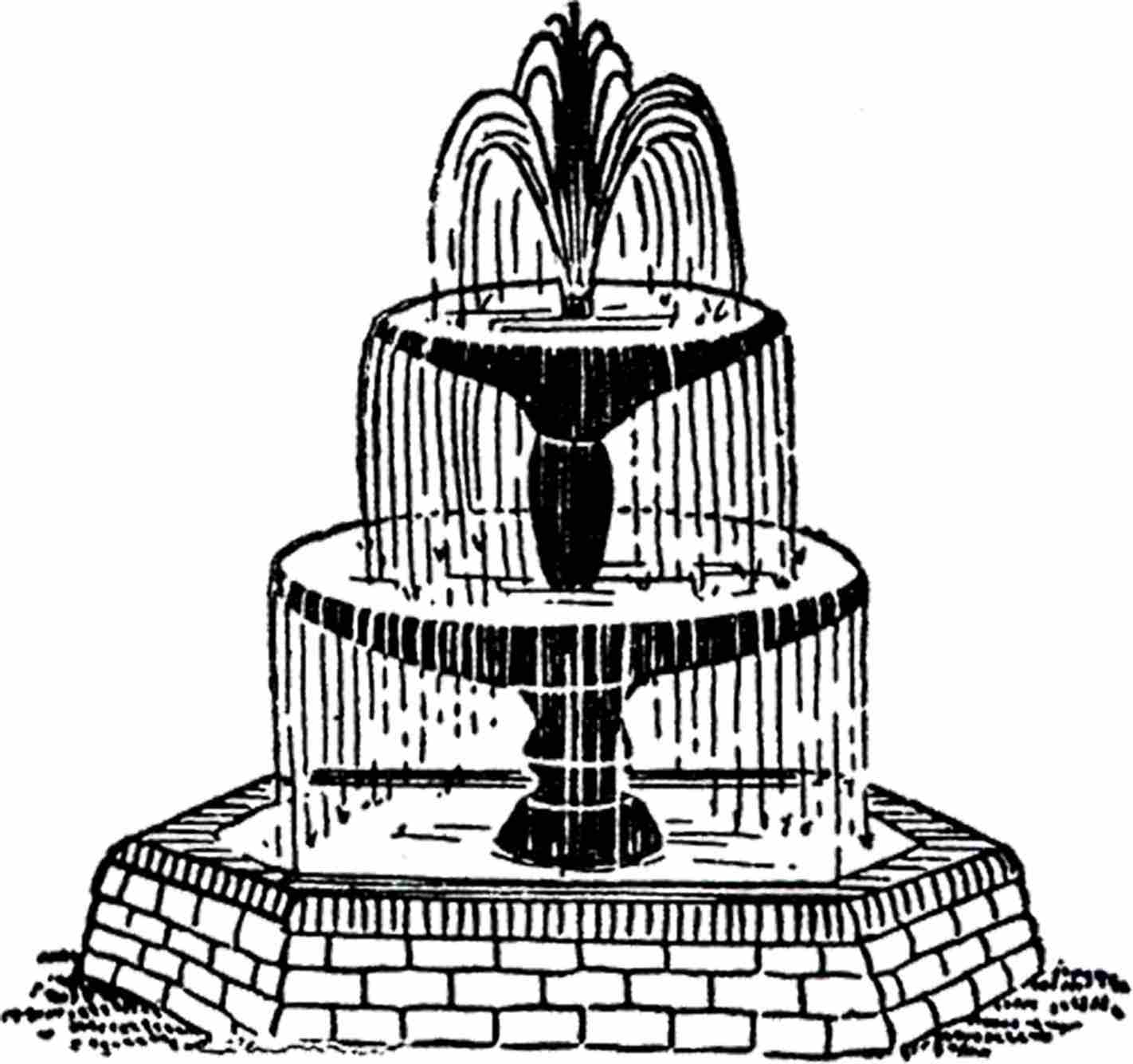 1422x1336 Water Fountains Drawings