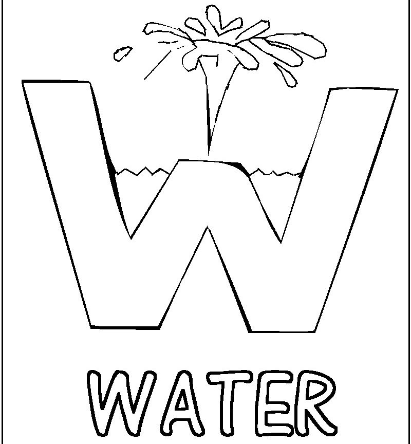 Water Drop Coloring Page