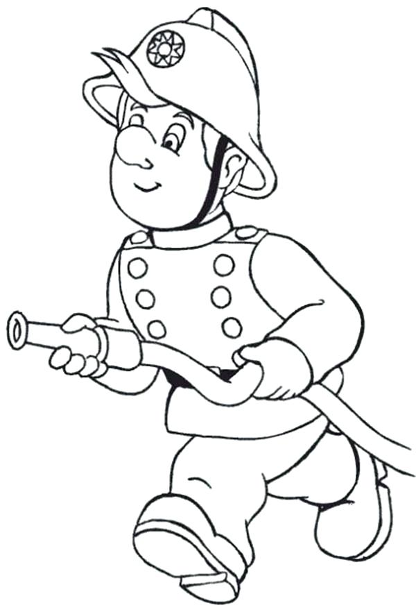 600x882 Fireman Sam Colouring Pages To Print Try Extinguish Fire