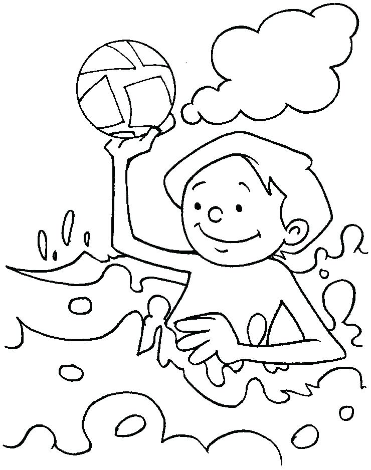 740x938 water park coloring pages playing in the sea coloring page water